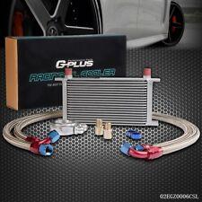19 Row AN10 Universal Engine Transmission Oil Cooler Kit+Filter Adaptor Hose End