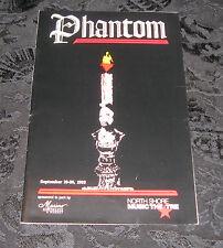 Playbill PHANTOM signed by 6 cast members, North Shore Music Festival, 1992
