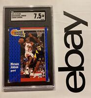 Michael Jordan SGC 7.5 Fleer Collector League Leader #220 INVEST Last Dance 1991