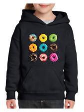 Love Food Donuts Doughnuts Match w Coffee & Wine Youth Hoodies Sweater