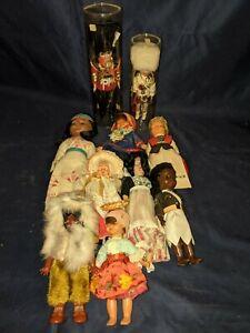 lot of 10 vintage ethnic sleepy eye dolls