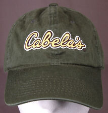 Cabela's Hat-Green/Yellow-Embroidered-Baseball Cap-Hunting Outdoor Fishing Sport