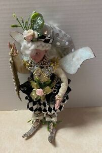 Mark Roberts 10-Inch Black and White Happy New Year Small Girl Fairy