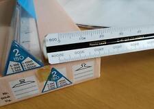 NESTLER 2.41 617 ISO 2 Dreikantmaßstab Redukt. Lineal Architekt Vermesser 30 cm