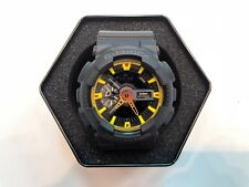**BRAND NEW** CASIO WATCH G-SHOCK ANA-DIGI XL BLACK YELLOW GA110BY-1A NEW IN BOX