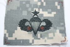 US ARMY ISSUE PAINTBALL 2 X COMBAT SENIOR PARACHUTE WING ACU CLOTH 2 BRONZE STAR
