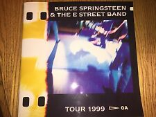 BRUCE SPRINGSTEEN 1999 TOUR PROGRAM and Newspaper Clip