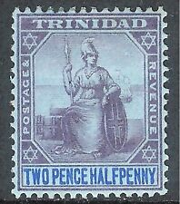 Trinidad 1901 purple/blue on blue 2.5d mint SG129