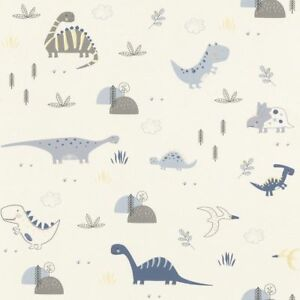 Rasch Tapete 249347 Bambino XVIII Kindertapete Dino Dinosaurier Kinderzimmer