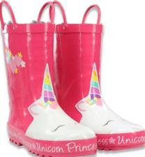 Western Chief Girl's Unicorn Princess Faux Fur Lined Rain Boots