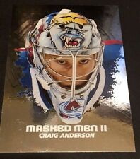 CRAIG ANDERSON  2009-10 In The Game Between The Pipes MASKED MEN II Silver #41