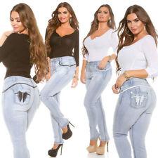 Damen-Bootcut-Jeans in Übergröße niedriger Bundhöhe (en)