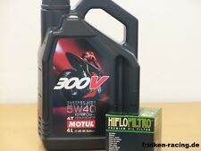Motul Öl 300V 5W-40 / Ölfilter Aprilia RSV4 1000 Factory Bj 2009 - 2014