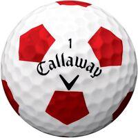 """LTD EDITION"" CALLAWAY CHROME SOFT X SoftFast™ Core TRUVIS WHITE GOLF BALLS X 3"