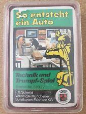 Quartett Kartenspiel FX Schmidt So entsteht ein Auto 60er Jahre Vollständig G