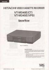 HITACHI - VT-M340E VT-M345E - Instruction Manual - B3859