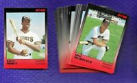 1989 STAR CO EREVETT GIANTS TEAM SET 32 CARDS STEVE HOSEY