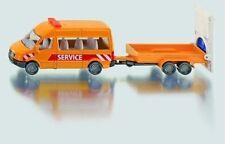 SIKU 1660 MERCEDES SPRINTER TRANSPORTER With Traffic Safety Trailers