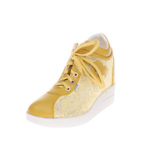 RRP €150 RUCO LINE Sneakers EU 40 UK 7 US 10 Contrast Leather Hidden Heel Lace