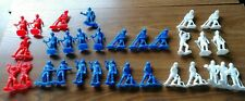VTG VINTAGE PLASTIC FIRE FIGHTERS LOT BLUE RED WHITE CLASSIC TOY SOLDIERS STYLE