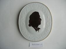 Meissen Plaque Friedrich de Schiller (Mon Numéro D'Article 1)
