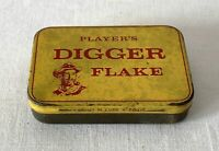 Vintage Empty Tobacco Tin PLAYER'S DIGGER Flake 2oz c1930's
