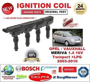 FOR OPEL VAUXHALL MERIVA 1.4 16V Twinport +LPG 2003-2010 SINGLE IGNITION COIL