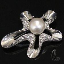 AU SELLER Lovely Made With Swarovski Crystal & Pearl Large Brooch br010-7