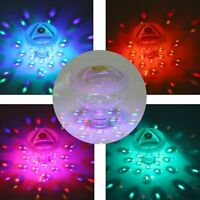 Floating Underwater LED Disco Party Light Glow Show Swimming Pool Hot Tub Lamp