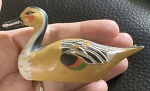 Miniature Vintage Decoy Duck Pencil Sharpener  Hong Kong Resin