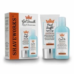 Shaveworks Get Smooth Duo, Cool Fix, 1 Oz , Pearl Soufflé Shave Cream 1 Oz