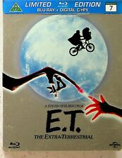 E.T. Limited Edition Steelbook Blu Ray *NEW -RARE OOP Europe (Spielberg/1982) ET