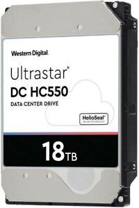 324 TB! (18) WD Ultrastar DC HC550 18 TB HDD SATA 7200rpm 512E SE: Lightly Used
