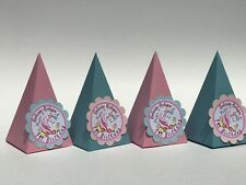 Unicorn Favor boxes. Costomized treat boxes. Pyramid Treat Boxes. Cosutomizable