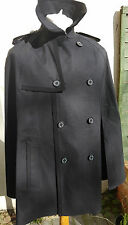 Mackintosh Original Mens Crinan Cape (NO Sleeves) Cotton Bonded Size 42 Black