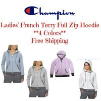 Champion Ladies' French Terry Full Zip Hoodie *4 Colors* FREE SHIPPING
