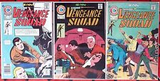 VENGEANCE SQUAD #1,4,6 Private Eye-Mike Mauser 1975 Charlton Comics