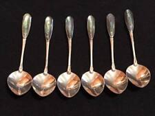 Set of 6 Vintage Silver Abalone Teaspoons