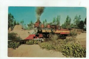 CA Knotts Berry Farm California - Train (old 41) operating in Ghost Town