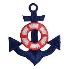 "Anchor Applique Patch - Life Preserver Buoy Nautical Badge 1.75"" (Iron on)"