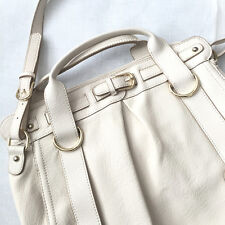 Charles and Keith Ivory Off White with Gold Hardware Bag Handbag Shoulder Tote