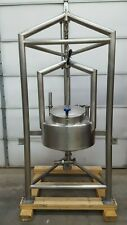 Suspended 40 Gallon Stainless Steel Coned Batching Tank With Load Cell