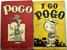 Lot 2 Walt Kelly POGO I GO POGO vntg TP 1st prt Churchy Bridgeport Tammanany