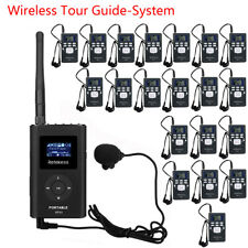 Wireless Tour Guide System FM Transmitter+20 Radio Receiver for Meeting/Training