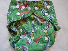 New Dr Suess Green Eggs Cloth Diaper Cover Double Gusset FlipThirstie PUL EB22