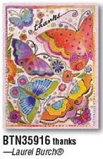 NOTE CARDS by Leanin' Tree -Butterflies THANKS-Pack of 8