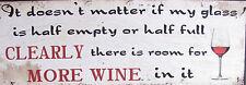 Fun Words Wooden Sign Shelf Sitter ~ Wall Art ~ More Wine ~ Plaque
