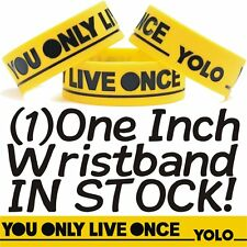 Yolo You Only Live Once Wristband In Yellow That's My Motto Bracelet Music Band