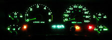 JEEP WRANGLER TJ 1997 - 2006  BRIGHT GREEN LED GAUGE & DASH LIGHT KIT