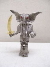 Signed Pewter Mythological Creature With Gold Sword
